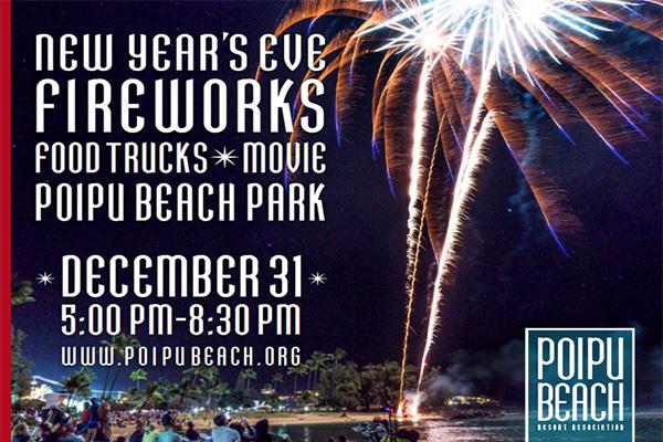 New Year\'s Eve Fireworks Celebration at Poipu Beach Park »» Kauai ...